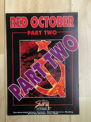 Swing Presents Red October Part Two Rave Flyer  • 6.50£