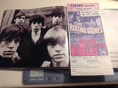 THE ROLLING STONES TREASURES COLOUR FLYER 1965 Ft.HOLLIES ABC MADE GB FREEUKPOST • 3.50£