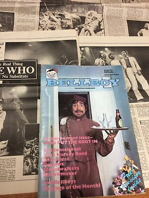 The Who Bellboy Tour Programme 1976  Alex Harvey Band + NME/Sounds Articles • 16£