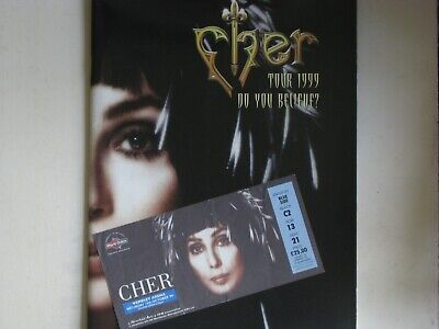 Cher 1999 Do You Believe Tour Program Signed, Autographed With Show Ticket. L@@K • 12£