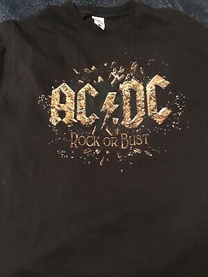 AC/DC, Rock Or Bust Tour T-shirt 2015, XL, Good Condition • 4.60£