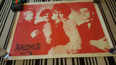Huge Poster Of The Damned. Smash It Up Tour 1980 Era Punk Rock • 23.65£
