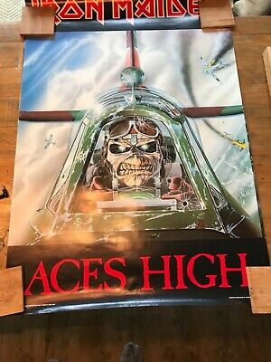 Iron Maiden - Aces High Original Vintage 1980s Poster By Minerva • 75£