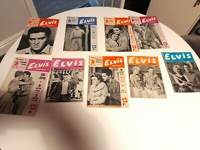 Elvis Monthly Magazines 2nd Series 1961 8 Issues  • 31£