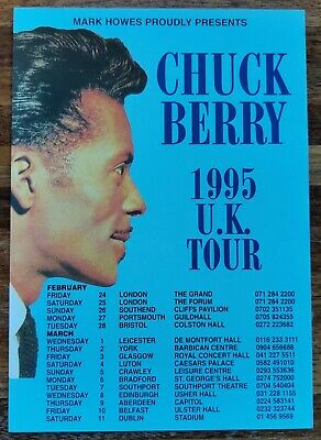 Chuck Berry 1995 Uk Tour A5 Flyer Music Rock N Roll Go Johnny Go Guitarist Rare • 0.99£