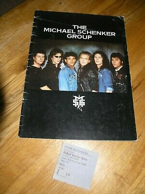 Michael Schenker Programme 1983 Tour Book Plus Ticket Msg • 12.95£