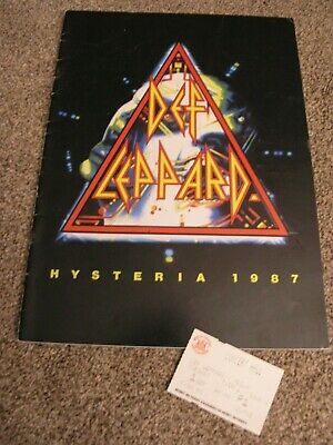 Def Leppard Programme 1987 Plus Ticket • 12£