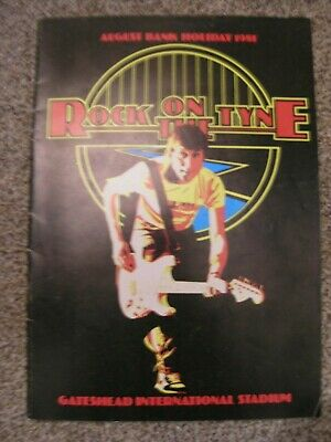 Rock On The Tyne Programme 1981 Tourbook.... Rory Gallagher / U2 / Ian Dury   • 45£