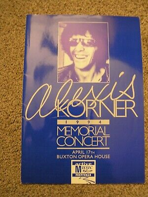 Alexis Korner Memorial Programme 1994 Tourbook Rory Gallagher / Robert Plant • 45£