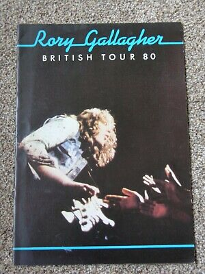 Rory Gallagher Programme 1980 Original Tour Book • 22.95£