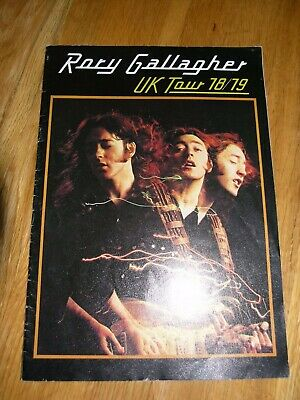 Rory Gallagher Programme 1978 Original Tour Book • 39£