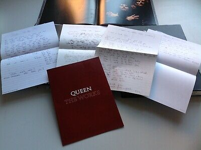 Queen 40years Of Queen Rare Auction 4hand Written Copy Lyrics & The Works Env Ri • 6.99£