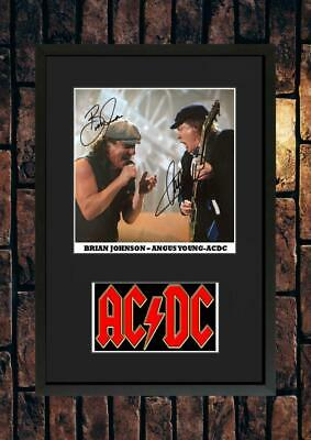 (#242) Angus Young Brian Johnson Ac/dc Signed A4 Photo//framed (pp) Great Gift • 14.99£