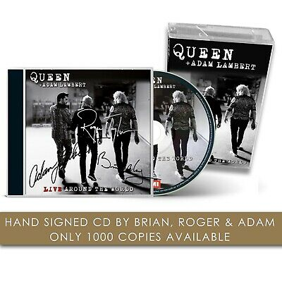 Queen Live Around The World SIGNED CD And Cassette And Pin Badge • 100£