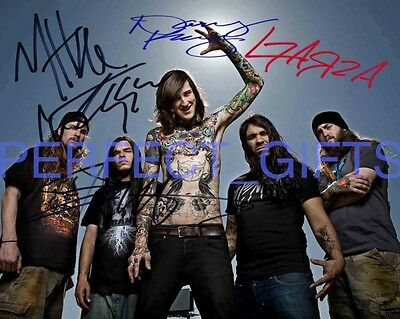 Suicide Silence Mitch Lucker Band Signed Autographed 10x8 Repro Photo Print • 5.99£