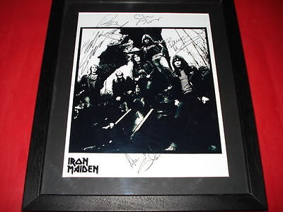 IRON MAIDEN SIGNED FRAMED&MOUNTED 10x8 PP PHOTO Harris • 19.99£