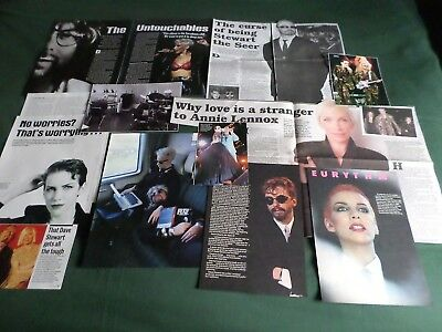 Eurythmics - Music Celebrities - Clippings-cuttings Pack • 3.99£
