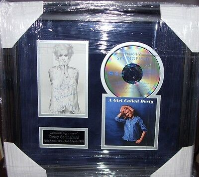 DUSTY SPRINGFIELD Signed Montage AFTAL • 265£