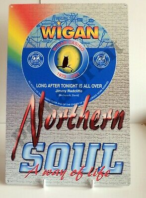 Northern Soul Metal Sign, Scooter Sign, Keep The Faith Sign, Wigan Casino Sign • 6.45£