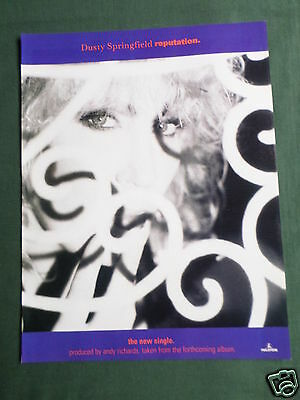Dusty Springfield - Magazine Clipping / Cutting- 1 Page Advert • 2.99£