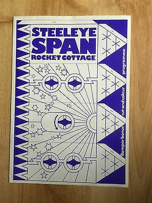 Steeleye Span 1976 Rocket Cottage - Fold Out Tour Programme • 25£