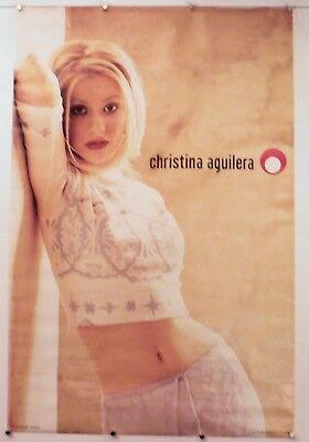 CHRISTINA AGUILERA - LEANING ON WALL -vintage 23  X 35  NOS (b107) • 12.70£