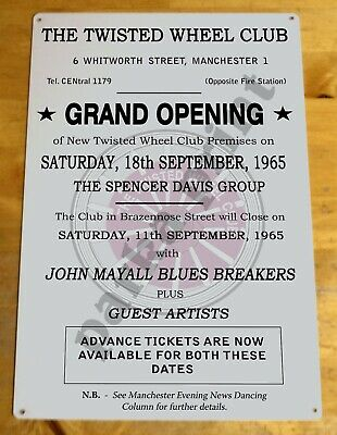 Northern Soul Metal Sign Plaque, Twisted Wheel Sign Grand Opening, Scooter Sign • 6.45£