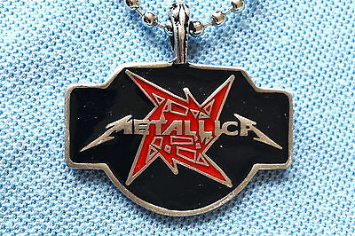 Metallica Heavy Metal Pendant Mens Boys Necklace Chain    Bpc045 • 6£
