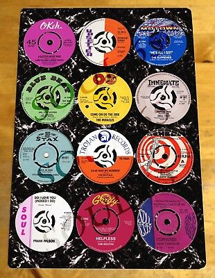 Northern Soul Metal Sign, Northern Soul Record Sign, Scooter Sign, Vinyl Records • 6.45£