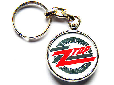 ZZ TOP Classic American Rock Band Chrome Keyring Picture Both Sides • 5.49£