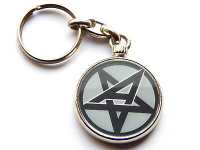 ANTHRAX American Heavy Metal Band Chrome Keyring Picture Both Sides • 5.49£