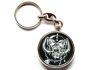 MOTORHEAD Heavy Metal Band Chrome Keyring Picture Both Sides • 5.49£