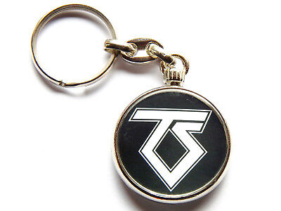 TWISTED SISTER Heavy Metal Band Chrome Keyring Picture Both Sides • 5.49£