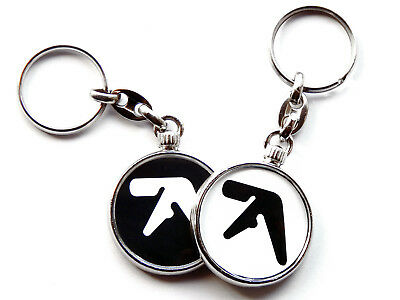 APHEX TWIN Techno Electronic Music Chrome Keyring Picture Both Sides • 5.49£