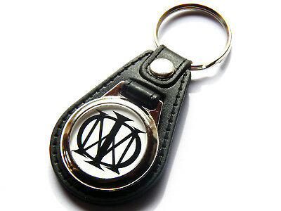 DREAM THEATER Progressive Metal Band Quality Leather And Chrome Keyring • 5.99£