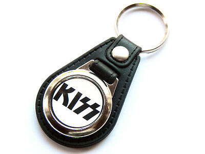 KISS Classic American Rock Band Quality Leather And Chrome Keyring • 5.99£