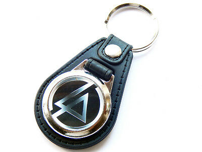 LINKIN PARK Black Design Rap Rock Band Quality Leather And Chrome Keyring • 5.99£