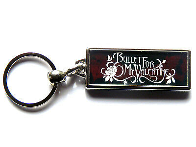 BULLET FOR MY VALENTINE Metal Band Large Chrome Keyring Picture Both Sides • 4.99£