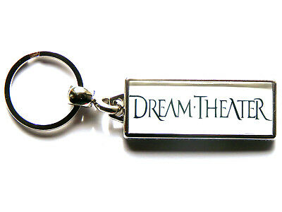 DREAM THEATER Progressive Metal Band Large Chrome Keyring Picture Both Sides • 4.99£