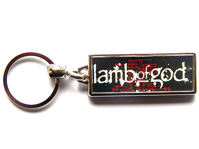 LAMB OF GOD Heavy Metal Band Large Chrome Keyring Picture Both Sides • 4.99£