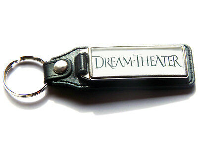 DREAM THEATER Progressive Metal Band Large Leather And Chrome Keyring • 5.99£