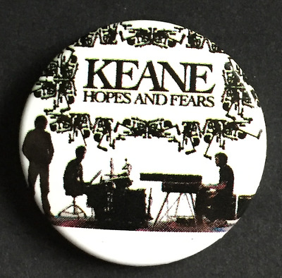 KEANE Hopes And Fears BUTTON BADGE English Pop Rock Band - Tom Chaplin  25mm Pin • 2.25£