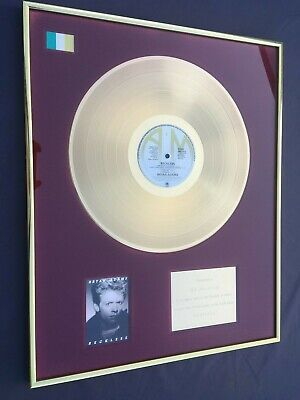 100% GENUINE Gold Disc To Recognise Sales Of Bryan Adams A&M Album  Reckless  • 799£