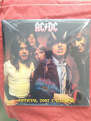 AC/DC Sealed Official 2007 Calender • 5£