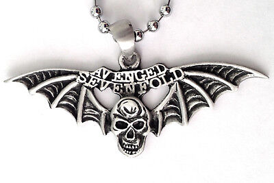 AVENGED Sevenfold HEAVY METAL ROCK PENDANT MENS BOYS NECKLACE CHAIN    BPC 062 • 6£