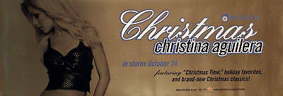 Christina Aguilera 2000 My Kind Of Christmas Original Double Sided Promo Poster • 11.11£