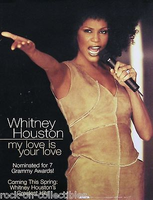 Whitney Houston 2000 My Love Is Your Love Original Promo Poster I • 11.58£