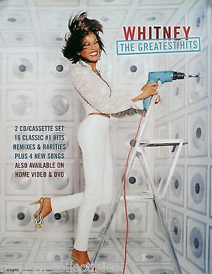 Whitney Houston 2000 Greatest Hits Original Promo Poster  • 11.58£