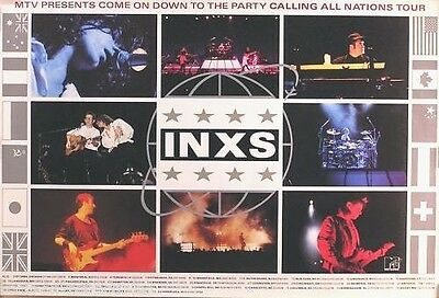INXS 1988 MTV Calling All Nations Original Tour Promo Poster • 17.87£