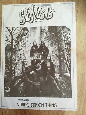 Genesis On Tour - Supers Ready Handout / Programme 1972/73 String Driven Thing • 100£